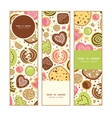 Colorful cookies vertical banners set pattern vector