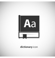 Dictionary book icon vector