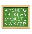 Alphabet on a blackboard vector