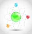 Atom symbol isolated on white background vector