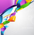 Colorful shape background vector