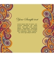 Abstract background with paisley vector