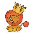 Cute lion crown vector