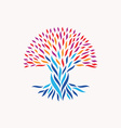Unity abstract tree concept vector