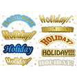 Holiday - gold stickers vector