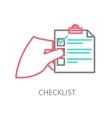 Line of a checklist vector
