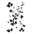 Black and white floral ornament vector