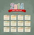 2014 calendar paper design vector