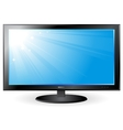 Background with blue sky on tv screen vector