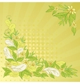 Background leaves flowers and feathers vector
