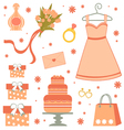 Bridal shower set vector