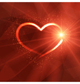 Background with luminous heart and lights vector