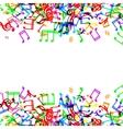 Music notes border vector