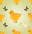 Seamless texture easter chick easter background vector