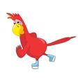 Funny parrot skater vector