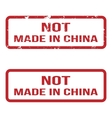 Not made in china grunge rubber stamp set for any vector