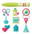 Flat design set of fertility icons vector