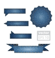 Jeans design elements vector