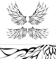 Tribal wings tattoo design vector