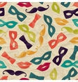 Seamless pattern with carnival accessories on vector