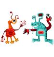 Cartoon alien set vector