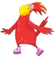 Funny parrot roller vector