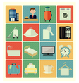 Flat icons hotel vector