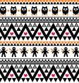 Halloween seamless pattern - tribal aztec print vector