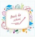 Back to school school background of school vector
