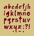 Abc handmade lowercase vector