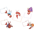 Set of crabs with the empty forms cartoon vector