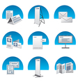 Advertisement icons back vector