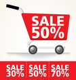 Sale cart set vector