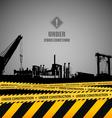 Under construction industrial template design vector