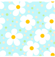 Modern light seamless pattern with camomiles vector