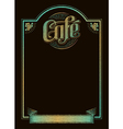 Cafe chalkboard menu vector