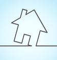 House icon lines background template vector