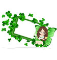 Greeting card to st patricks day vector