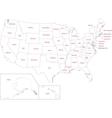 Outline usa map vector