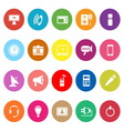 Electronic flat icons on white background vector