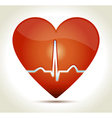 Red heart normal rhytm vector