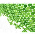 Technological green cells vector