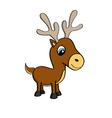Cartoon of a cute little reindeer vector