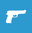 Gun icon white on the blue background vector