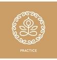 Yoga logo template vector