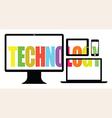 Colourful technology vector