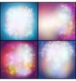 Set of abstract multicolored backgrounds defocused vector