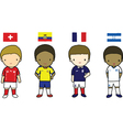 Fifa 2014 football players group e vector