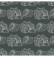 Seamless pattern with outline decorative seashells vector