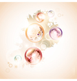 Abstract summer decoration vector